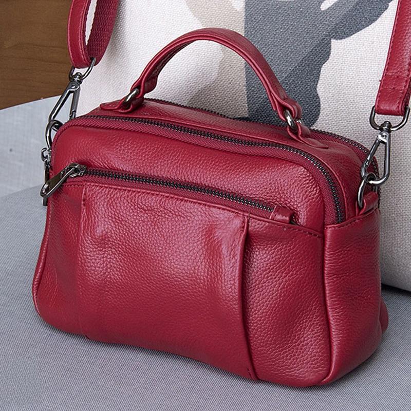 المرأة جلد طبيعي حقائب السيدات الفاخرة الكتف أكياس الأزياء طبيب حقيبة رسول Crossbody حقيبة الإناث اليد sac-في حقائب الكتف من حقائب وأمتعة على  مجموعة 1