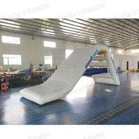 Ocean PVC material inflatable floating water slide for sales,lake inflatable water slides yacht slide , water slide boat