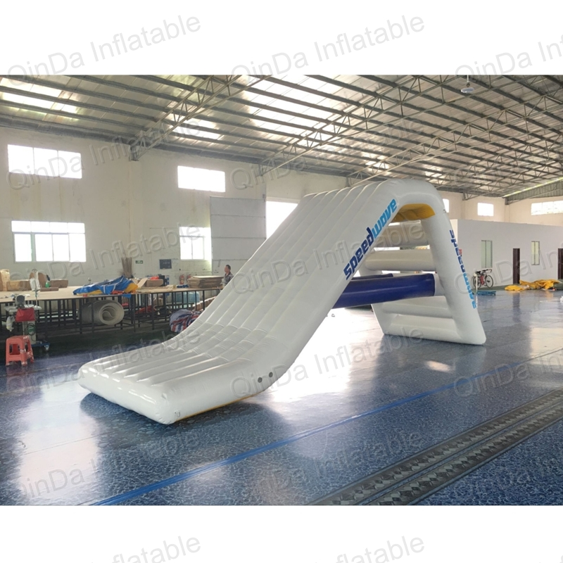 Ocean PVC material inflatable floating water slide for sales,lake inflatable water slides yacht slide , water slide boat lake or ocean inflatable funny water sports game water trampoline with air pump and repair kit