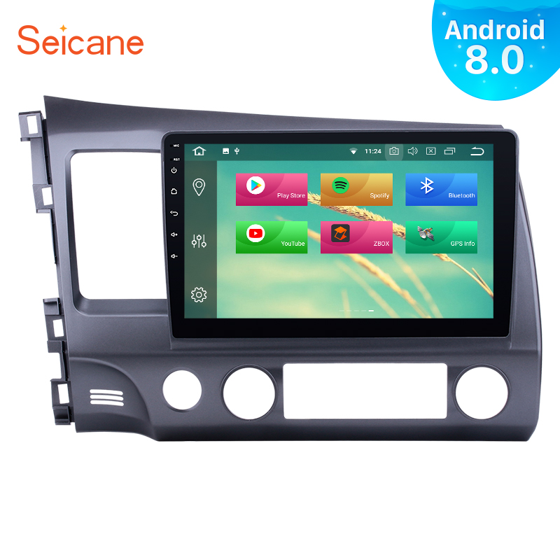 """Seicane 1Din Android 8.0 10.1"""" Car Radio GPS Multimedia Player Head Unit For Honda Civic LHD 2006 2007 2008 2009 2010 2011-in Car Multimedia Player from Automobiles & Motorcycles    1"""