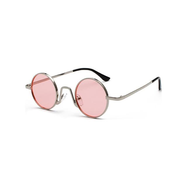 Round Steampunk Sunglasses Men Women Punk Style Sun Glasses Metal Small Shades Circle Vintage Male Unisex UV400 Eyewear
