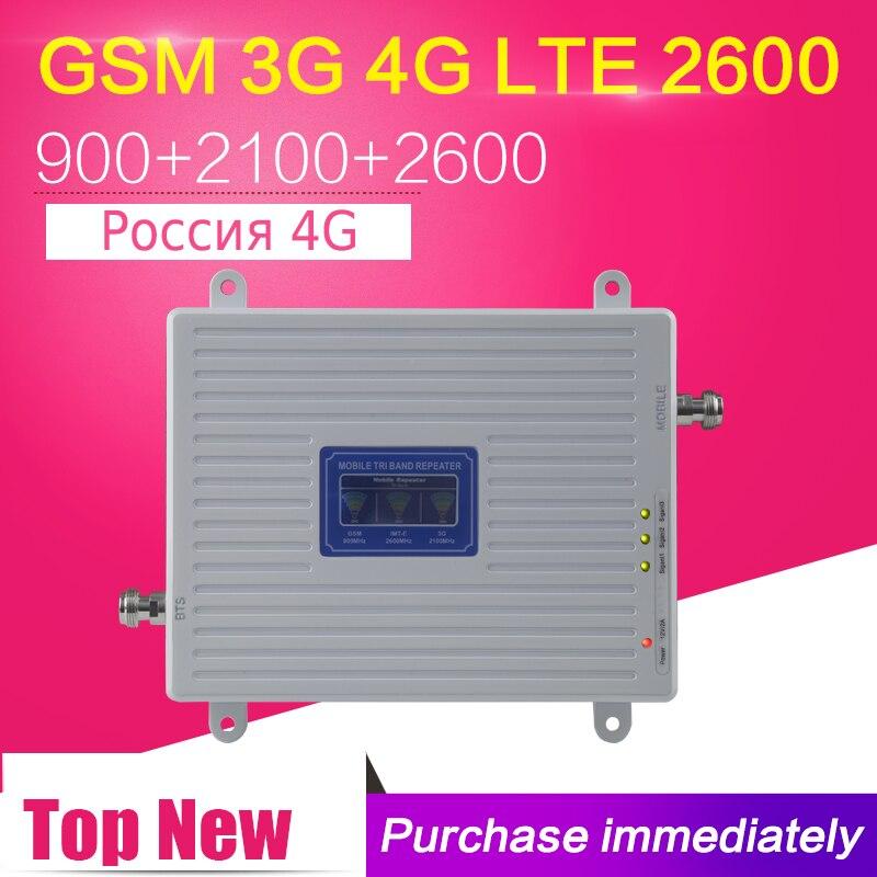 Para Europa 4G LTE Singal repetidor LTE 2600 GSM 900 WCDMA 2100 2G 3G 4G móvil teléfono Celular amplificador de señal amplificador celular