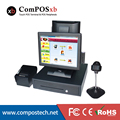 free shipping all dual screen computer in one pc touch pos system with CPU:1037, i3 , i5