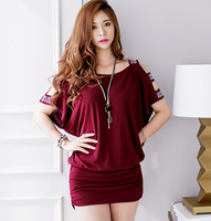 New Design Korean Style Women Strapless Solid Color Slim Loose Package Hip Mini Dress Sexy Nightclub