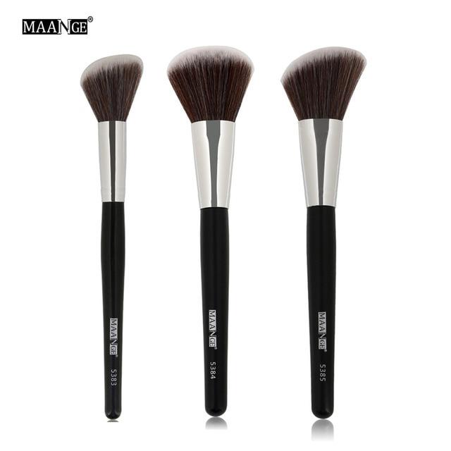 MAANGE pinceles de maquillaje corrector de polvo en polvo de cara Fundación cepillo herramientas profesional cosméticos de belleza