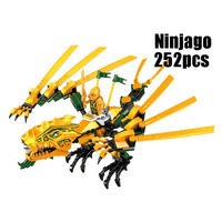WAZ Compatible Legoe Ninjagoes 70503 LELE 79112 252pcs Blocks Ninjago Figure The Golden Dragon Toys For
