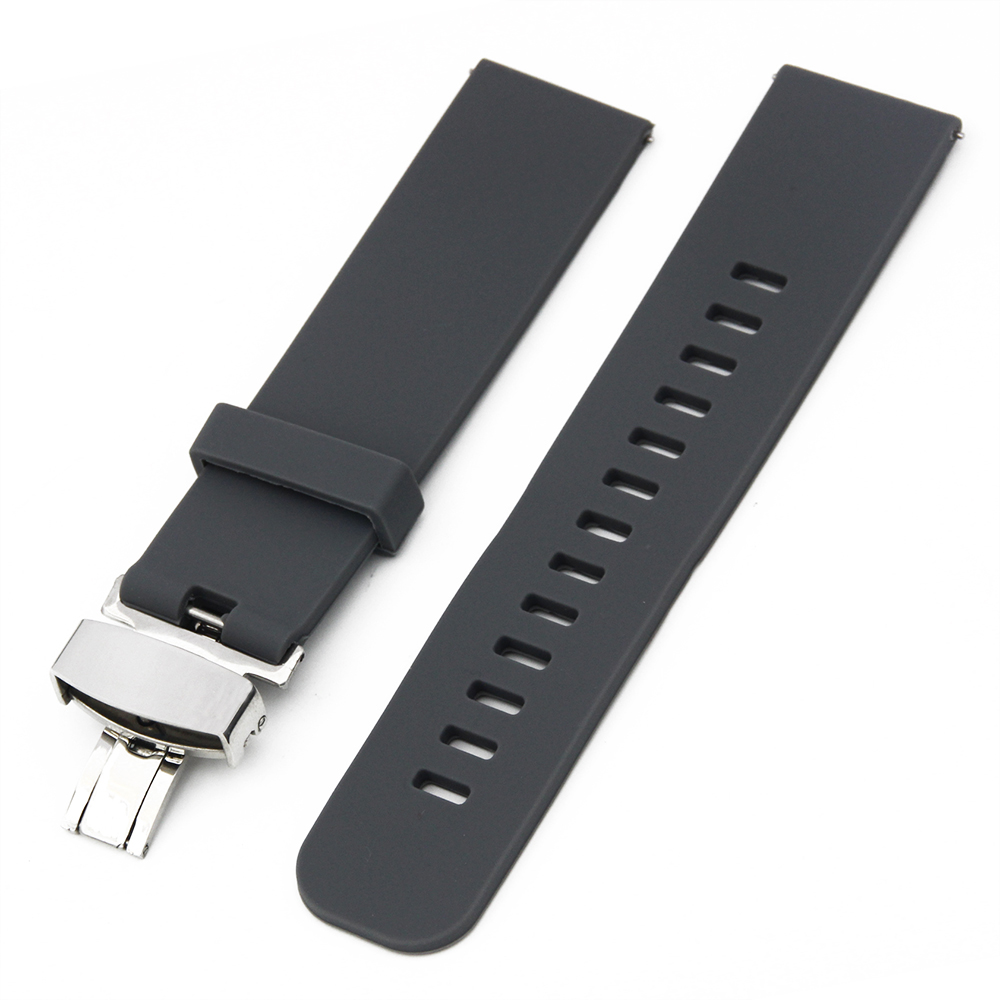 f3a5b96eb5e 18mm 20mm 22mm Silicone Rubber Watch Band for AP Audemars Piguet Quick  Release Resin Strap Wrist Loop Belt Bracelet Black Blue-in Watchbands from  Watches on ...