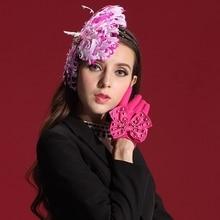 Бесплатная Доставка Женщины Чародей Hat Волос Бабочка Перо Женская Аксессуары Для Волос с Модой и Элегантный Особых случаев