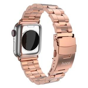 Image 5 - HOCO 2019 New Arrival pasek ze stali nierdzewnej do zegarka Apple iWatch seria 1 2 3 4 5 pasek 42mm 44mm 38mm 40mm taśma metalowa