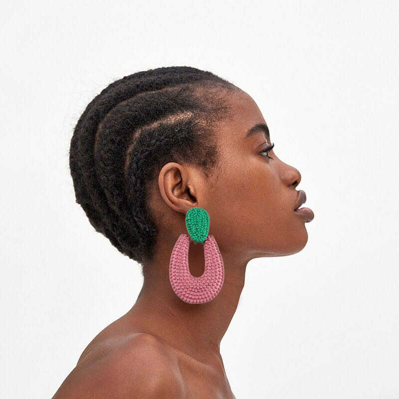 AYAYOO Big Dop Fashion Earrings Hanging Handmade Bohemian Earrings For Women 2018 Statement Ethnic Jewelry Brincos