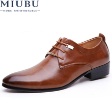 MIUBUNew Oxford Shoes for Men Fashion Leather Spring Autumn Casual Flat Patent Size 46