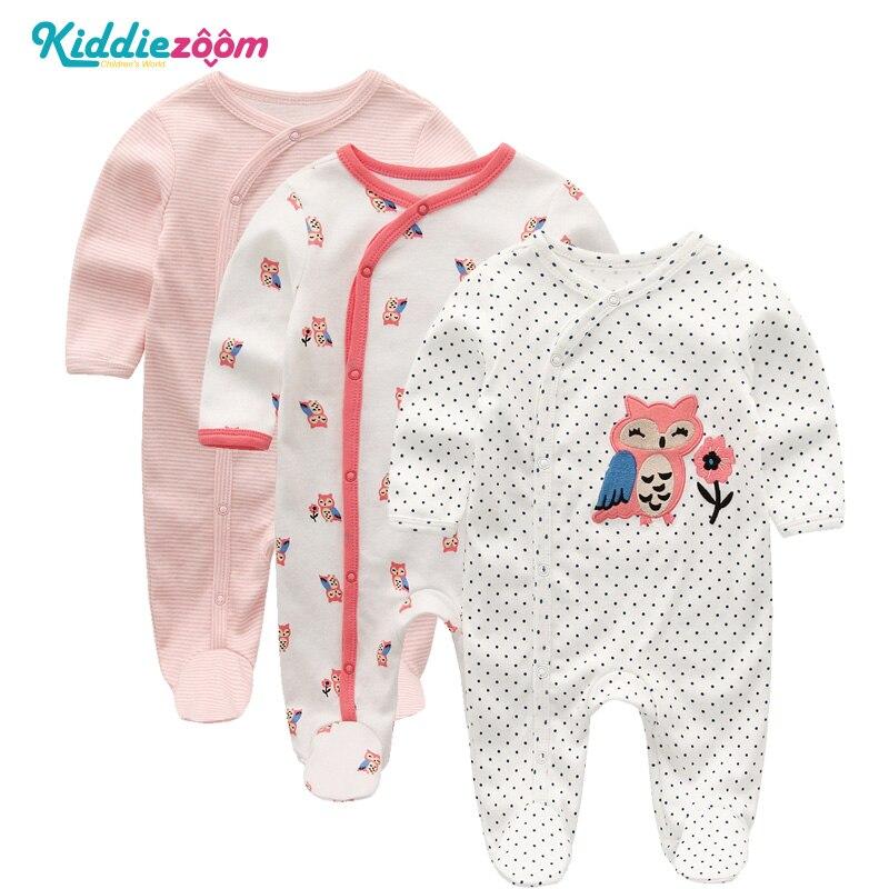 Pcs set Super Soft Cotton Baby Unisex Rompers Overalls Newborn Clothes Long Sleeve Roupas