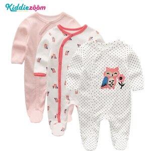 Image 4 - Conjunto de mamelucos Unisex de algodón supersuave para bebé, ropa de manga larga para recién nacido, infantil, 3/4/5 unidades