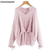 CINQ DIAMANTS Donne Camicia A Maniche Lunghe Bianco Grigio Rosa Tops Camicetta di Cotone Lino Slaccia la Camicia Chemise Femme blanco camisa