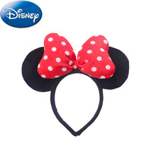 Disney Dolls  Stuffed Toys Mickey Mouse Minnie Childrens Headband Bow Head Jewelry Hairpin Toy Gift