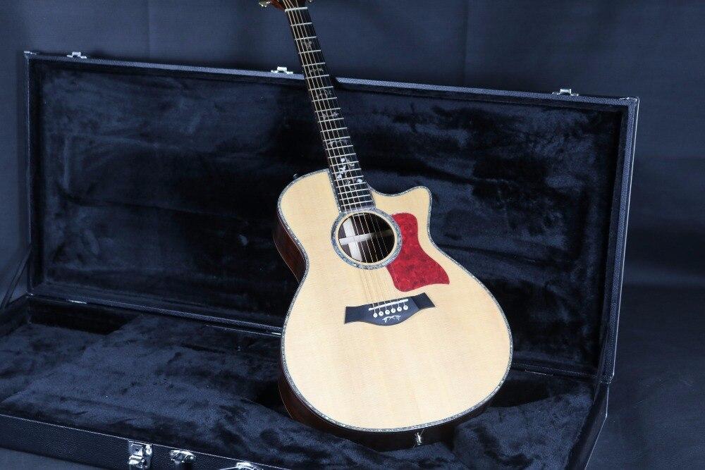 40 ''Cutway 916 guitare acoustique électrique b-band micros ébène touche Grover Tuner haut rigide - 2