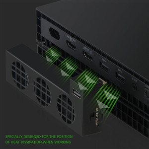 Image 5 - For XBOX ONE X Console Cooler External 3 Fans Supper Turbo High Speed Cooling system Fan for Microsoft XBox One X Game Console