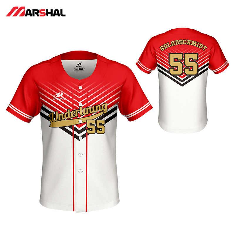f49bf66307d Professional design mens baseball shirts quick dry breathable baseball team  shirt custom sublimation blank baseball jerseys