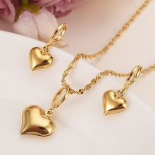 a09e732a349d 24 K oro amarillo llenado sólido precioso Slipper colgante collares  pendientes joyería del Partido de las muchachas fija los reg.