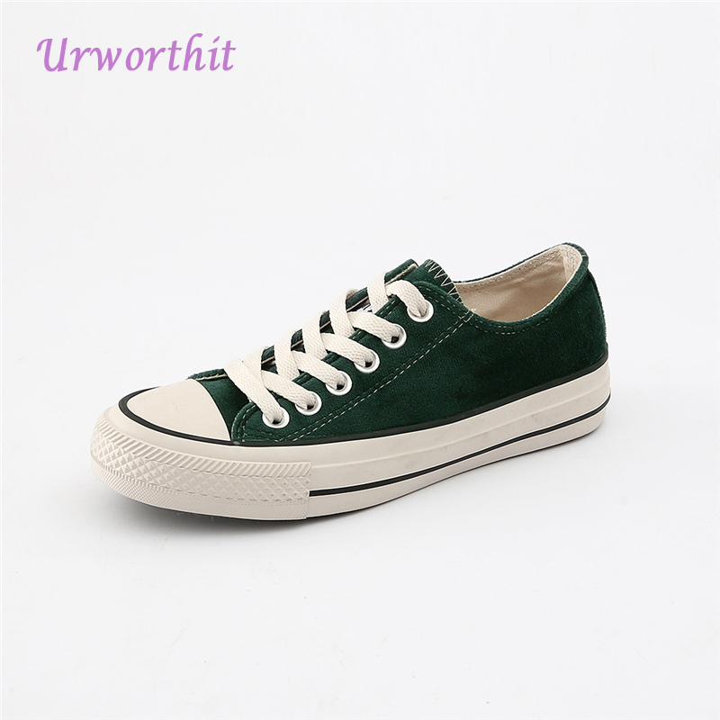 2018 Women Canvas Casual Vulcanize Classic Driving Flats Lady Simple Platform Leisure Flat Student Green Cloth Quality Shoes vintage embroidery women flats chinese floral canvas embroidered shoes national old beijing cloth single dance soft flats