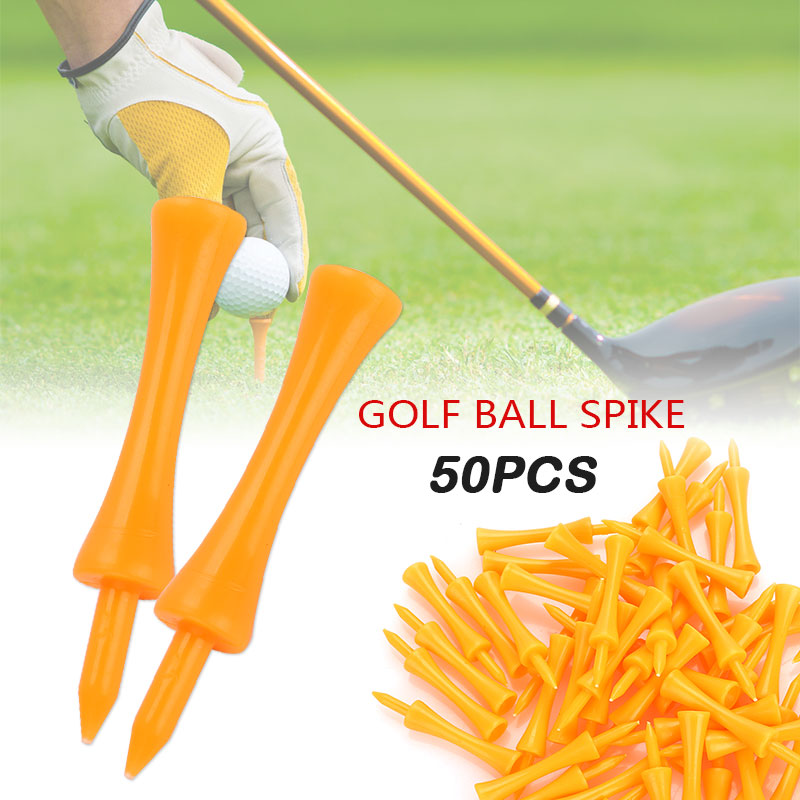 50pcs Plastic Tees Golf Tee 70mm Cushion Top Practice Practical Leisure Activity Ball Holder Outdoor Sports Training