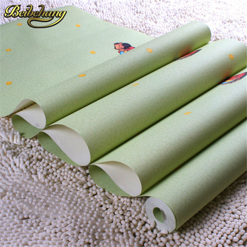 beibehang Home Decoration of wall paper PVC Kids contact paper Children Room Cartoon Bear Pattern Wallpaper Rolls Boy's Room beibehang non woven pink love printed wallpaper roll striped design wall paper for kid room girls minimalist home decoration
