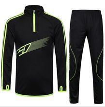 15 16 Men Sport Running Football Set Long Jacket font b Pants b font Suit Kids
