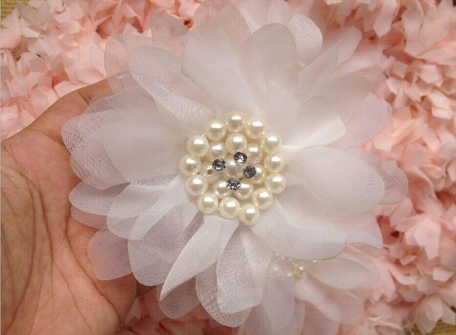 2piece/lot 12cm DIY cloth handmade flowers hair ornaments corsage hand holding flower material accessories