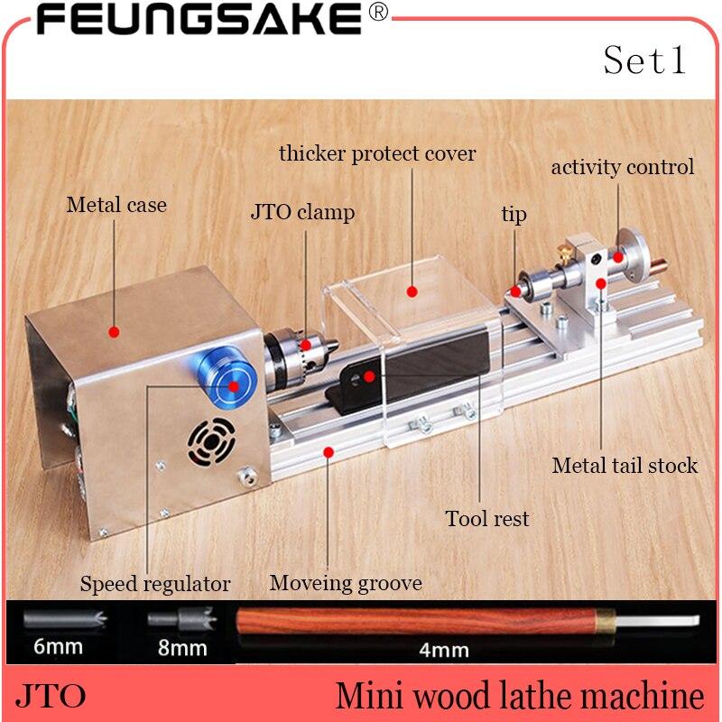 DIY Standard Wood Lathe Mini Lathe Machine Polisher Tables Saw Cutting W// Power