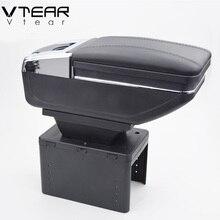 Vtear универсальный автомобиль центральное отделение для хранения подлокотник коробка из искусственной кожи авто-Стайлинг центральный магазин содержание коробка подстаканник аксессуары