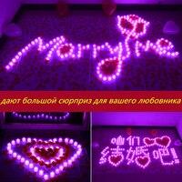 1 Adet Özelleştirilmiş Alevsiz Mumlar Dekoratif Led Elektronik Mum Işığı/Sarı Led Çay Işıkları/Romantik Sevgi Ifade Ev dekor