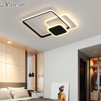 New LED Ceiling Lights Living Room Bedroom Round Square Lighting Fixtures Dimmable Modern Dome Lamps Dero Lamparas De Techo