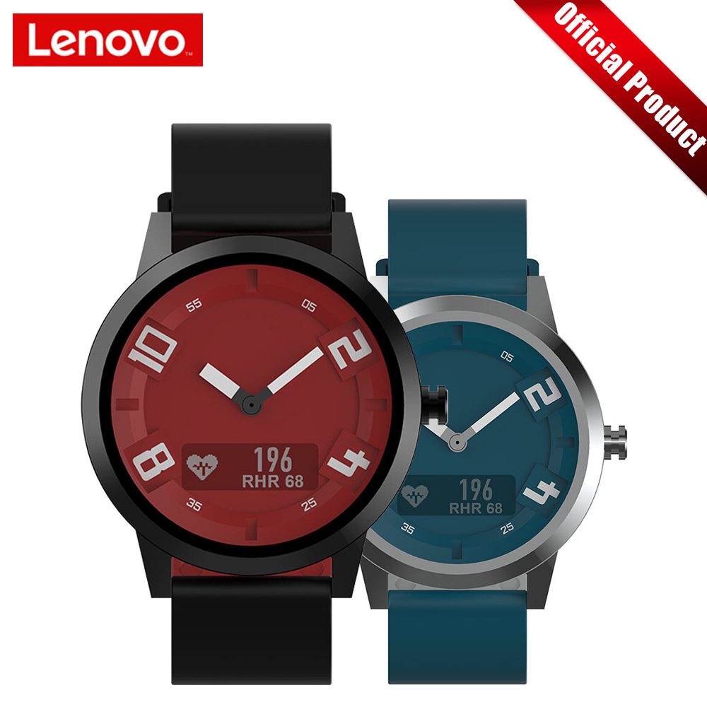 Lenovo Smart Watch Watch X Sports Edition BT5.0 Luminous Pointer Smartwatch OLED Screen Double Layer Silicone Strap Wristwatch