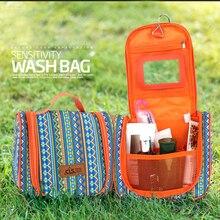 Chinese Ethnic Style Comestics Storage Bag  Waterproof Toiletries Organizer Polyester Multi-layer Hanging Bags Handbag Travel