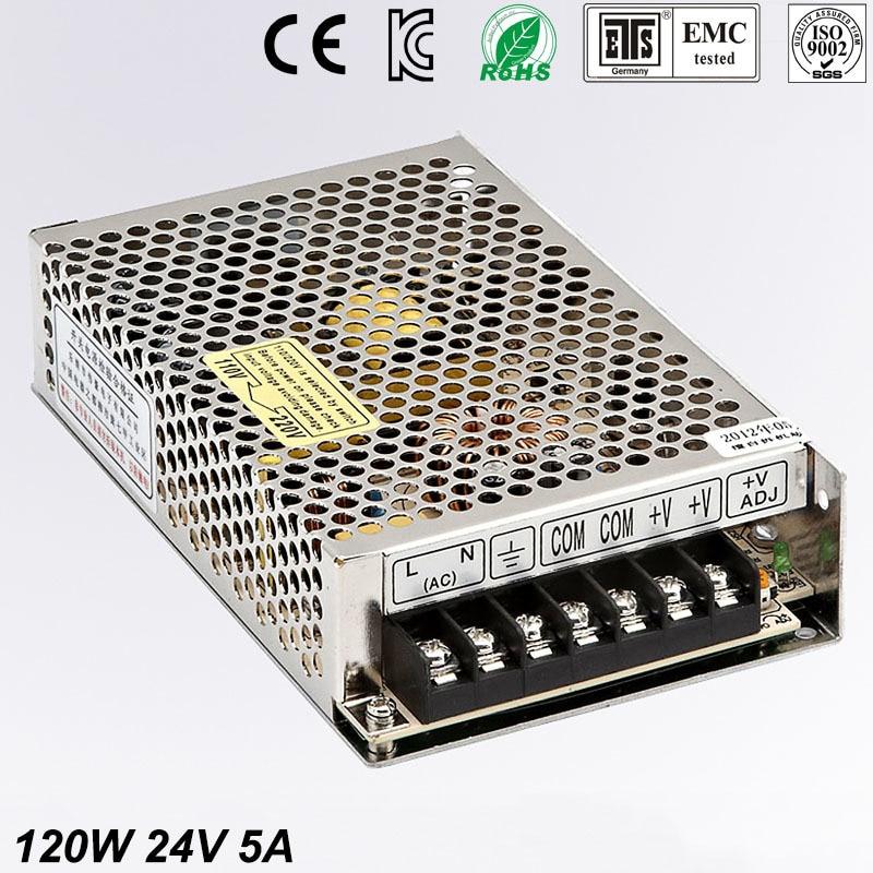 120W 24V 5A мини размер светодиодный импульсный источник питания трансформатор 220V AC к DC 24V выход источника питания Входное 110/220v