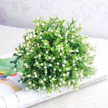 Fake-Leaf Flower-Bouquets Berry-Decoration Artificial-Grass 1pc Wedding with Party-Supply