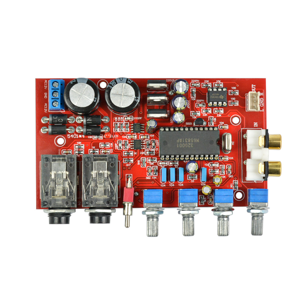 US $14 01 23% OFF AIYIMA M65831AP + NE5532 preamp board with Karaoke  fuction preamplifier board dual AC12V 0 12V-in Amplifier from Consumer