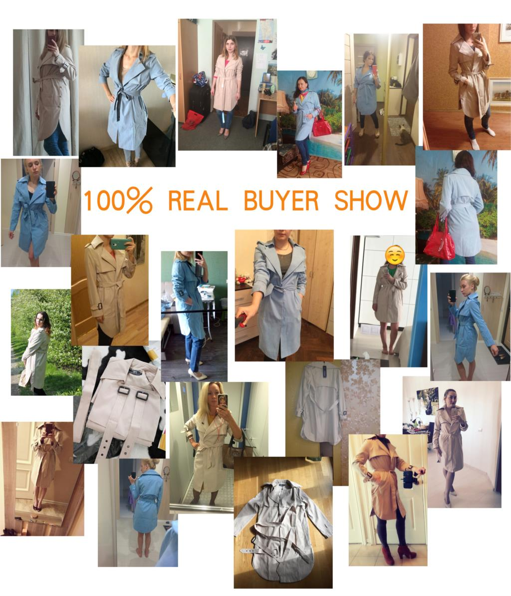 JAZZEVAR 19 new spring autumn fashion Casual women's khaki Trench Coat long Outerwear loose clothes for lady with belt 850115 2