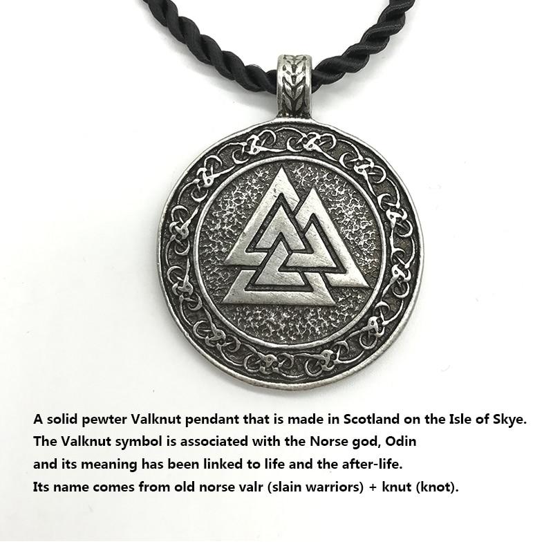2018 New Arrival Round Valknut Symbol Of Odin Necklace