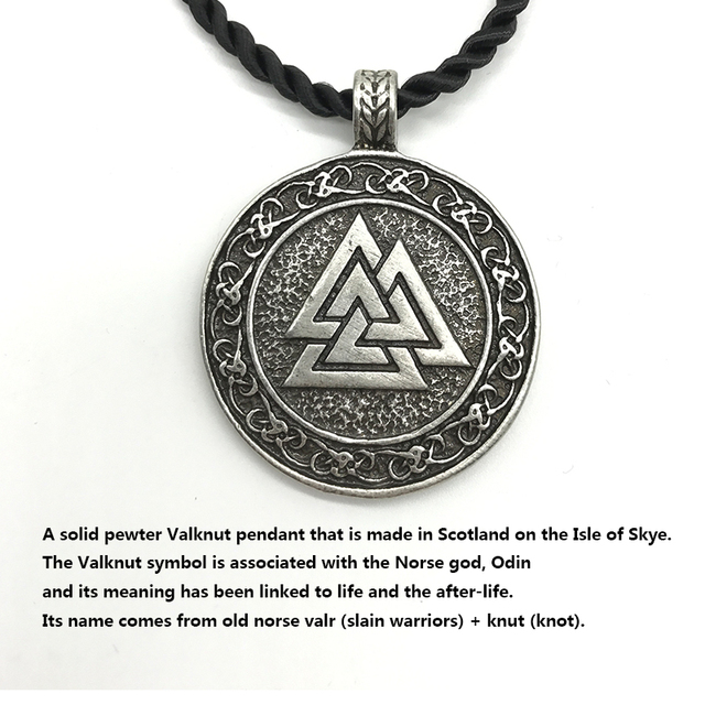 2018 New Arrival Round Valknut Symbol Of Odin Necklace Pendant For