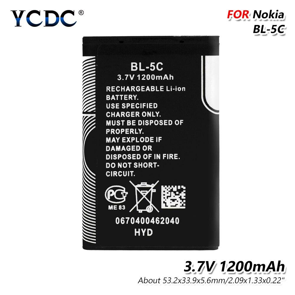 3.7 V 1200 mAh BL-5C Batterie BL5C BL 5C Téléphone Portable Bateria De Remplacement Pour Nokia 2112 2118 2255 2270 2280 2300 2600 2610 3125