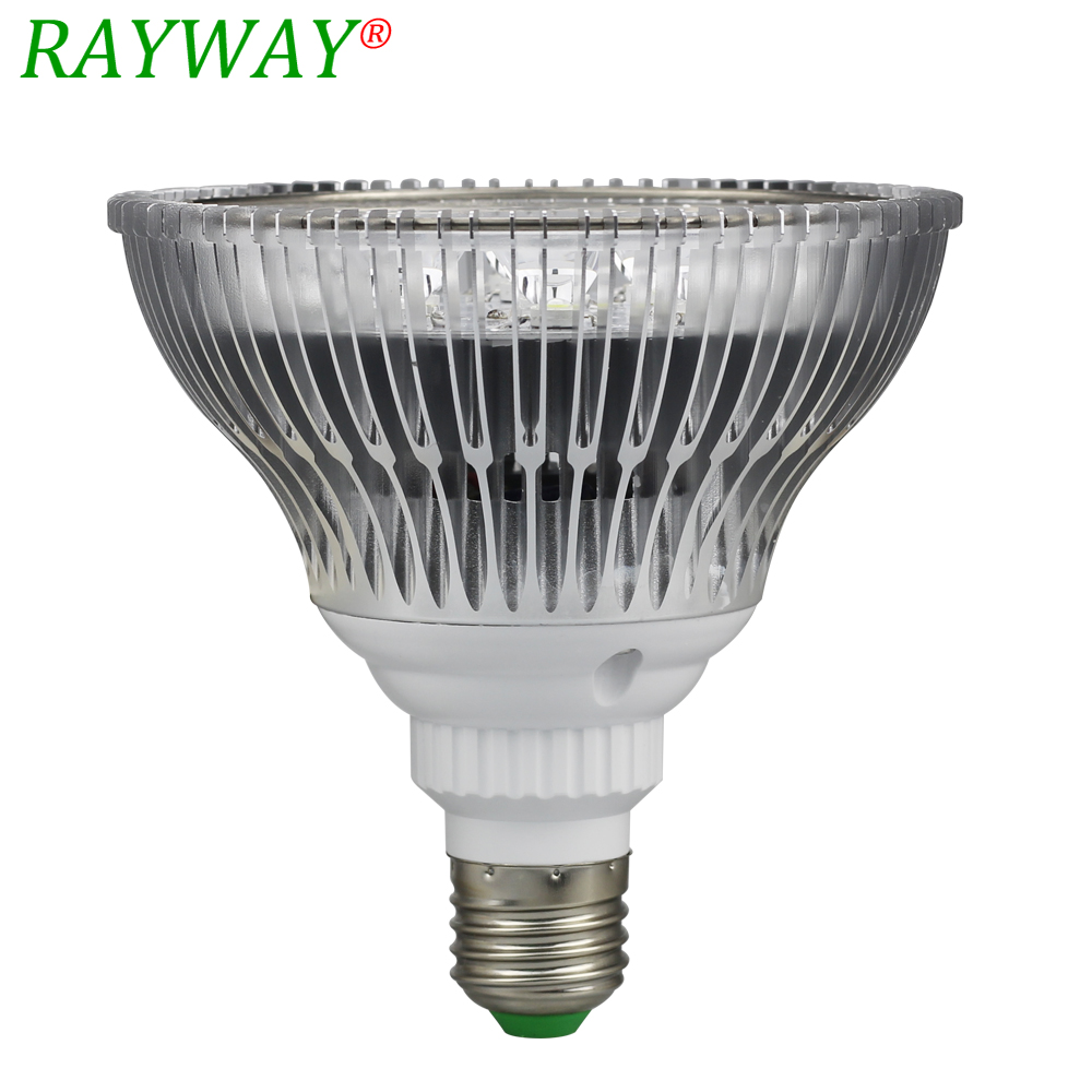 RAYWAY LED Aquarium Light E27 Par30 Par38 5W 7W 9W 12W 15W 18W AC85-265V Led Grow Plant Aquarium Lamp For Coral Reef Fish Tank 15w aquarium clip lamp fish tank light led display intelligent touching control changeable light color temp inductor water plant