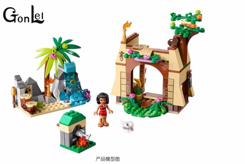 GonLeI SY855 Princess Series Moanas Island Adventure 41149 Maui Assemble Building Bricks Blocks Kids Girls Gifts Toys