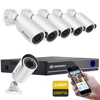 DEFEWAY NEW 8CH 1080P DVR kit 6pcs 2.0MP 2000TVL Camera P2P System IR Outdoor Night Vision Video Surveillance Kit