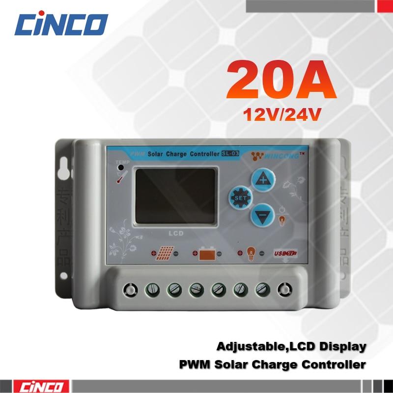 Sl03 20a 12v 24v Lithium Battery Solar