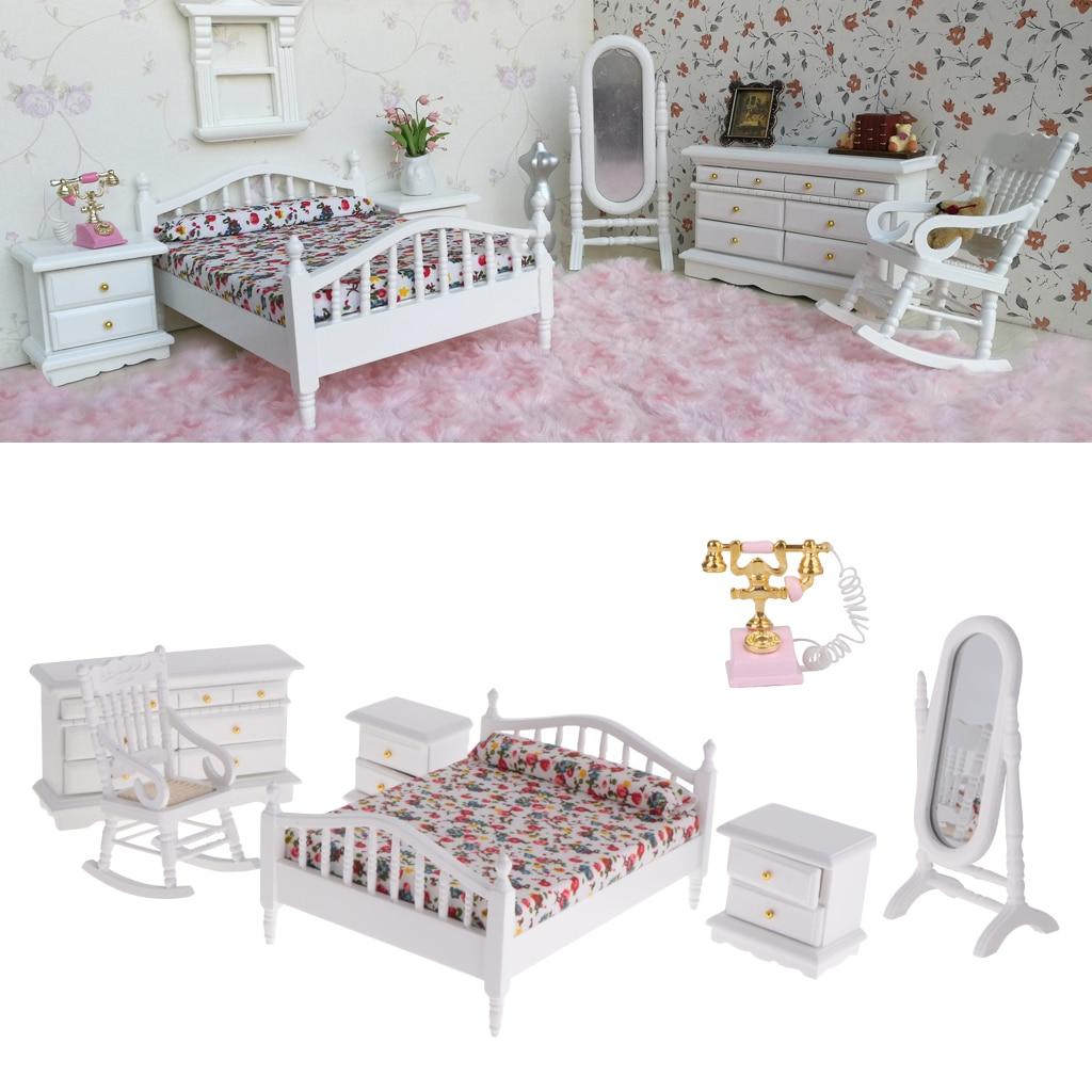 1 12 Dollhouse Miniature Wooden Retro Nursery Room Set Bedroom Furniture Kits Decor Doll House Accessories Aliexpress