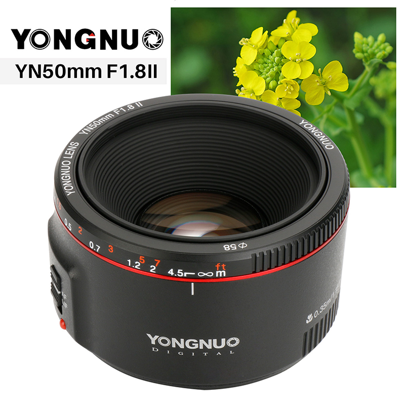 YONGNUO F1 8 II 50mm lens for Canon YN50mm Large Aperture Auto Focus Lens for Canon
