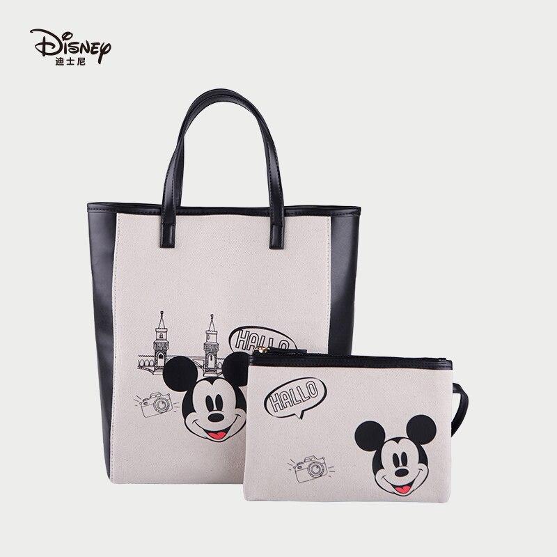 2 pièces véritable Disney Mickey fourre-tout sacs multi-fonction femmes bébé sac bébé soins sacs mode momie Shopping sac anniversaires cadeau