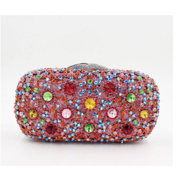 XIYUAN BRAND Crystal Clutch Bag red Multicolor Diamond Party Purse Women dinner Bags With Chain Evening Bag Handbags cocktail new designer red cocktail party clutch bags french romantic evening bag women handbags red studded jeweled pochette purse sc148