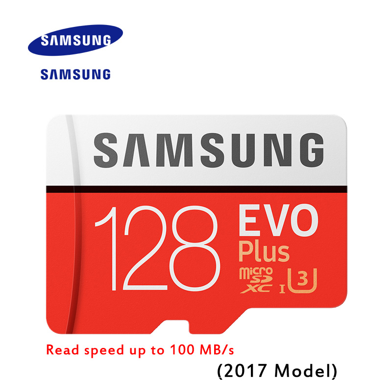 New Product Original SAMSUNG EVO Memory Card Micro SD TF Card 128GB Class10 U3 4K HD Read speed up to 100 MB/s (2017 Model)